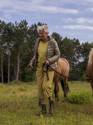 Ride-Instruktør Marie-Louise Demant underviser på rideterapi uddannelsen
